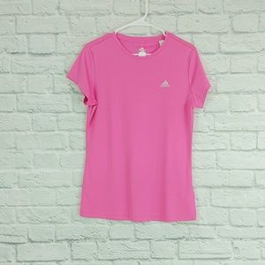 adidas | Barbie Pink Short Sleeve Work Out Top